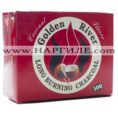 Ароматизиран въглен за Наргиле Golder River - Кокосов Орех